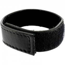 LEATHER BODY CORREA CUERO AJUSTABLE CON VELCRO PARA PENE NEGRO