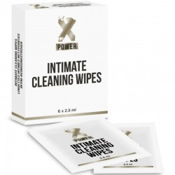 XPOWER INTIMATE CLEANING WIPES TOALLITAS LIMPIEZA INTIMA 6 UNIDADES
